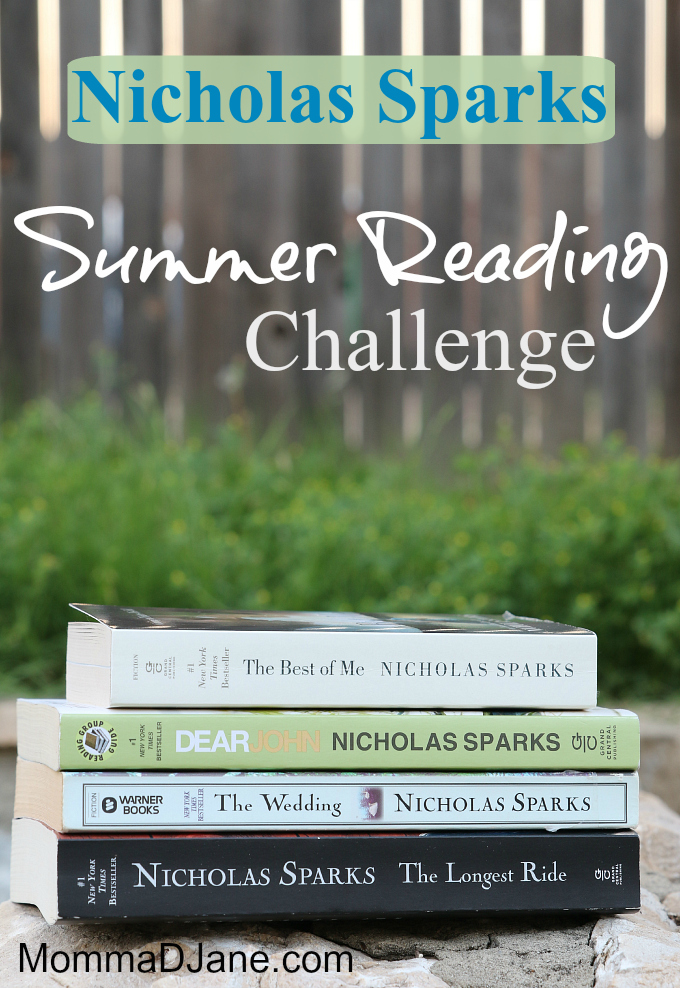 Nicholas Sparks Summer Reading Challenge