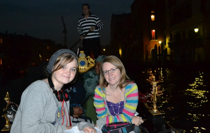 T and Mom on Gondola Ride