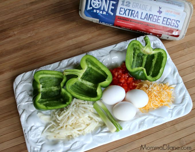 Omelet Stuffed Bell Peppers Ingredients