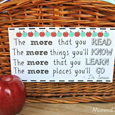 Back to School Reading Basket with Free Books