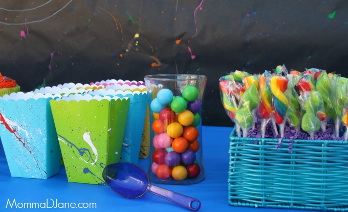paint ball candy buffet