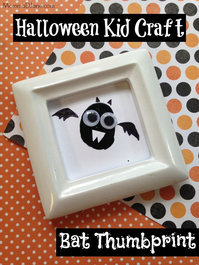 Bat Thumbprint Halloween Craft