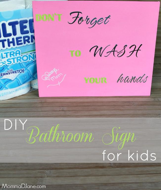 DIY Bathroom Sign for Kids