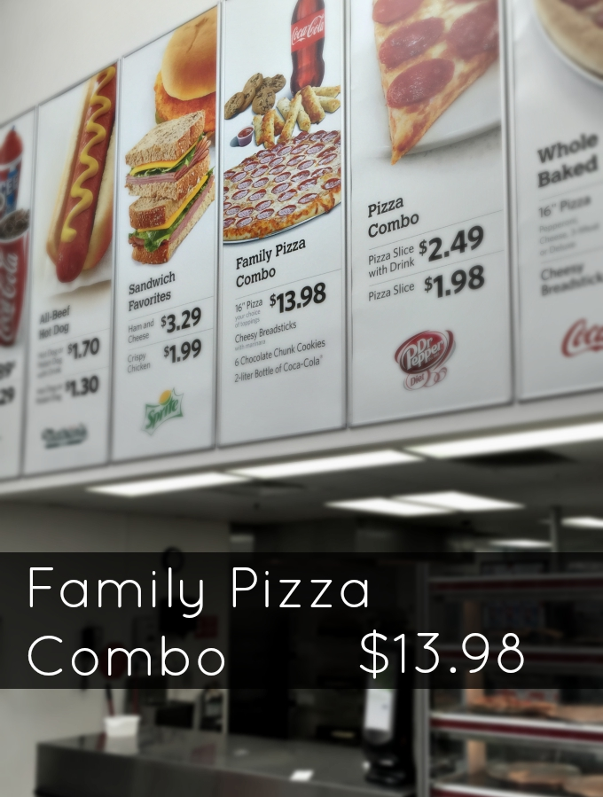 Family Pizza Combo In Store Photo