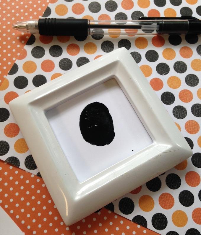 Thumb Print Halloween Craft