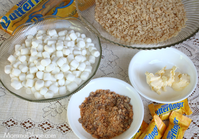 Butterfinger Rice Krispie Treats Ingredients