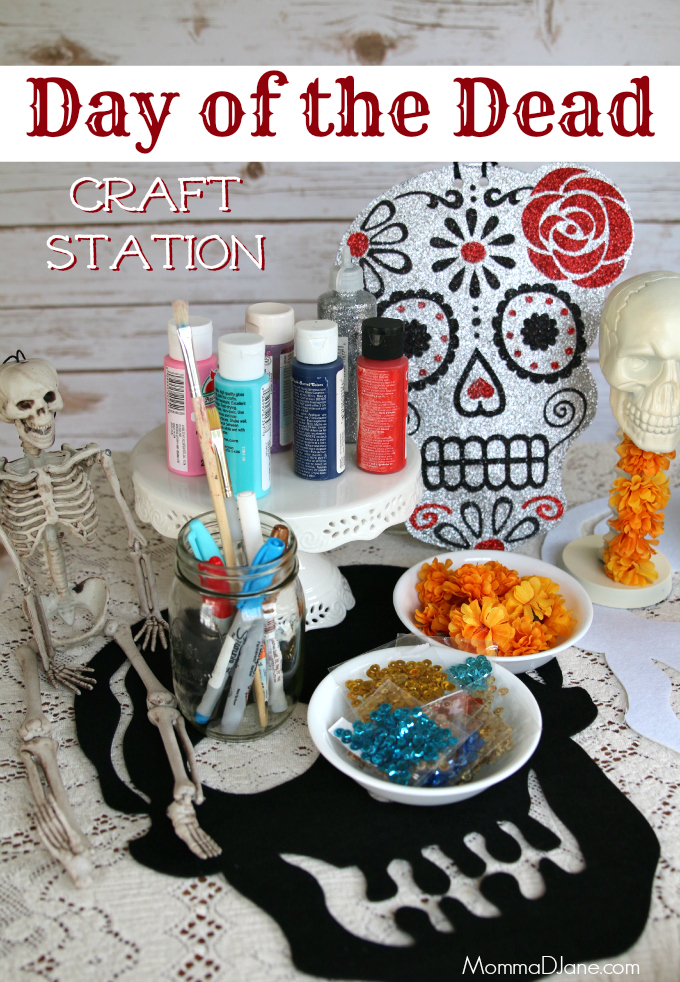 Day of the Dead Party Craft Station
