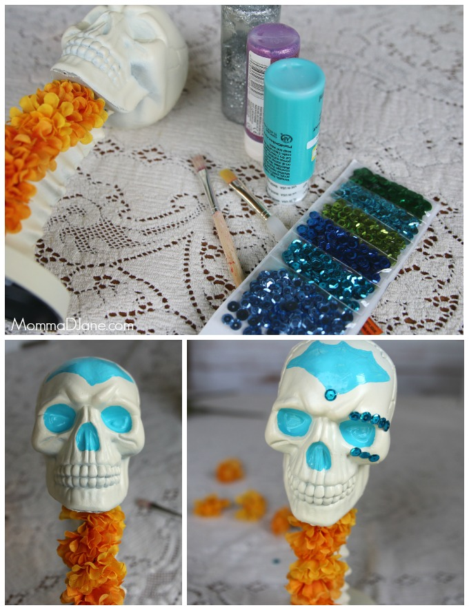 How to decorate Day of Dead Skull