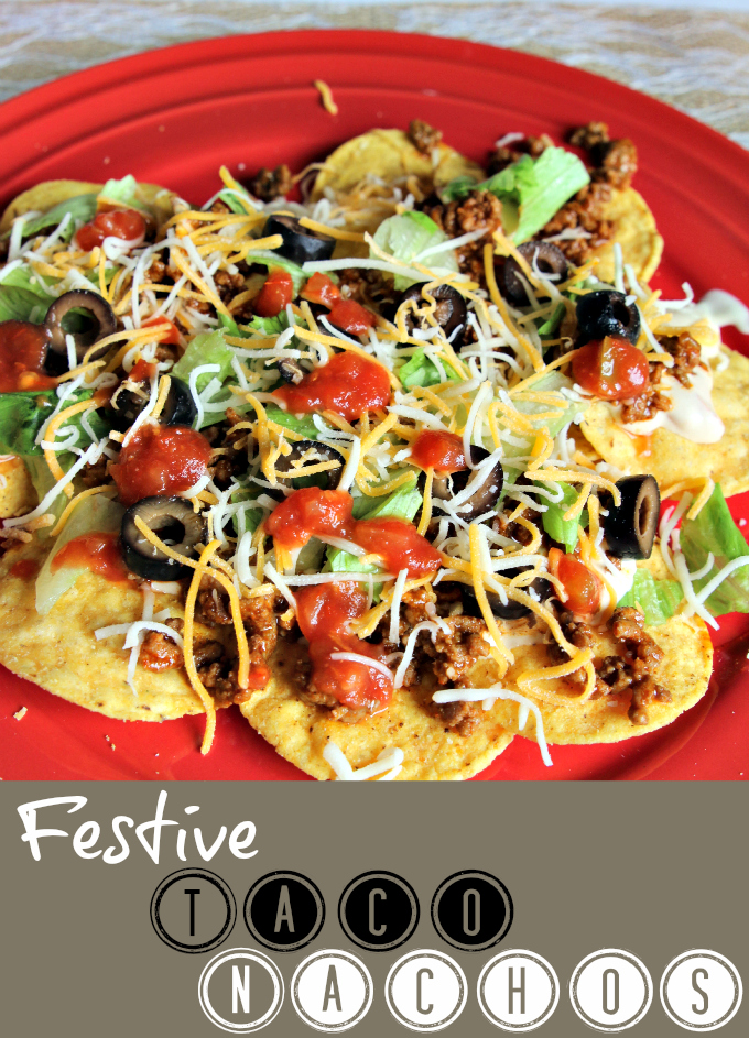 Plate of Festive Taco Nachos