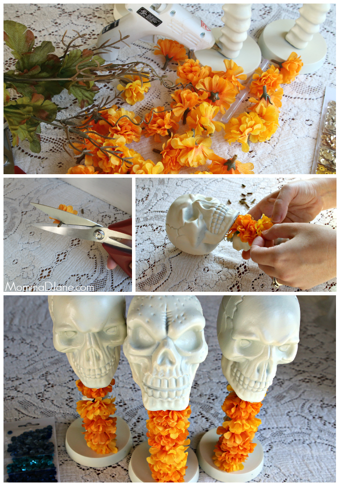 decorate skull for day of the dead party