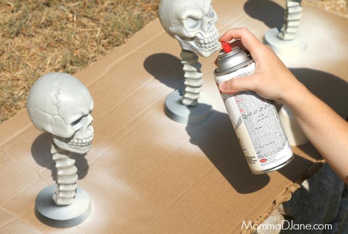 spray paint skulls