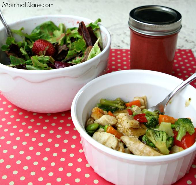 Steam Chicken and Vegetable Stir Fry