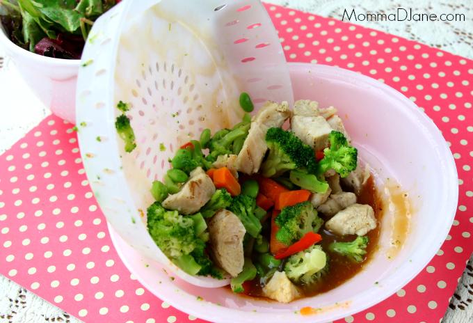 mix veggies and sauce