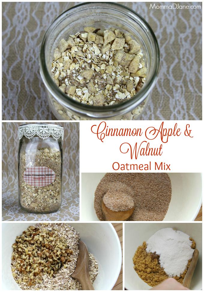 Cinnamon Apple and Walnut Oatmeal Mix