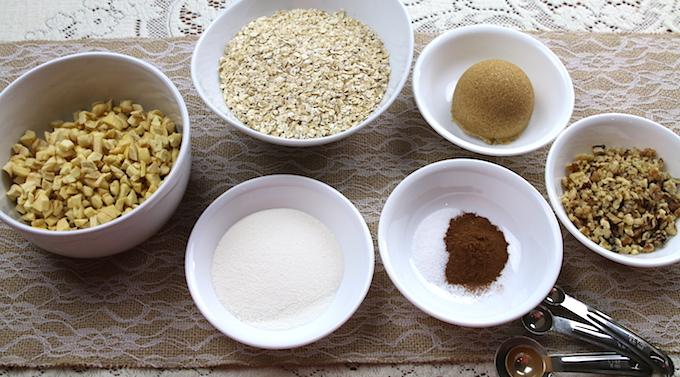 Cinnamon Apple Walnut Oatmeal Ingredients