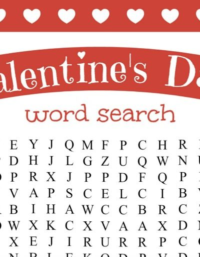 Printable Valentine's Day Word Search
