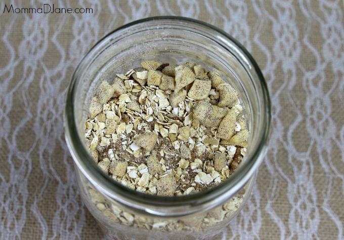homemade cinnamon apple and walnuts oatmeal