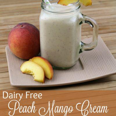Dairy Free Peach Mango Cream Smoothie