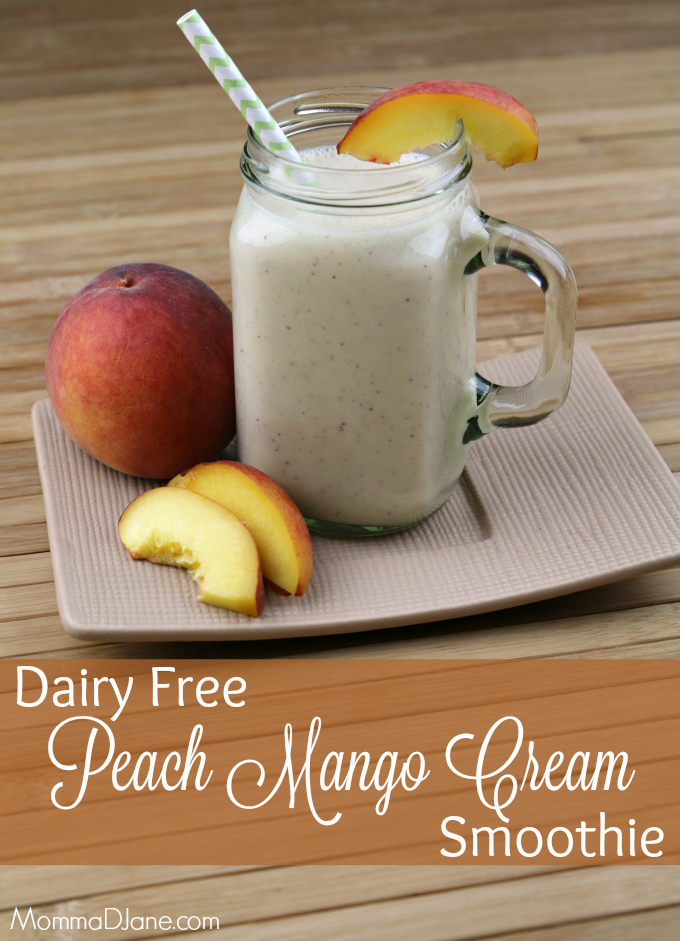 Dairy Free Peach Mango Cream Smoothie