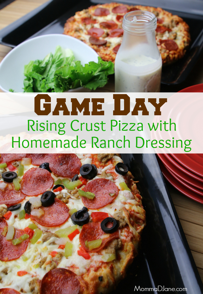 Game Day Pizza with Homemade Ranch Dressing