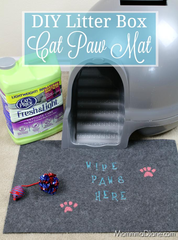 DIY Litter Box Cat Paw Mat