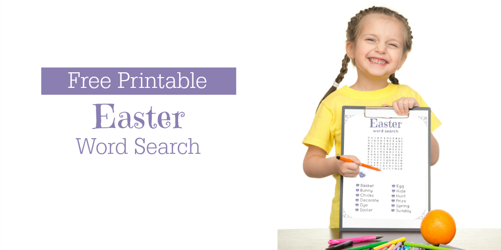Easter printable word search
