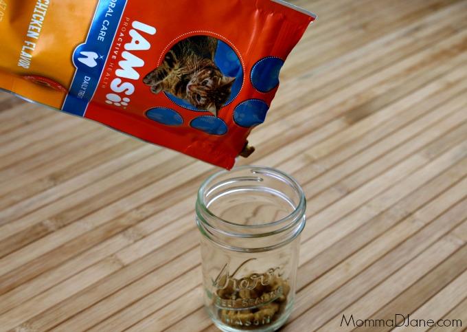 add treats to jar
