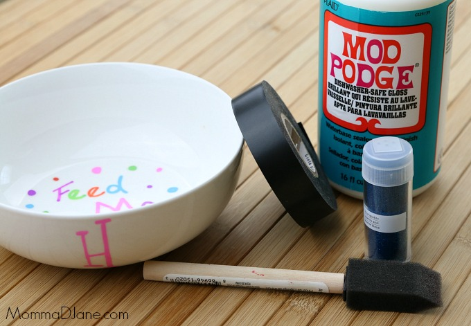 how to glitter a bowl