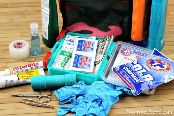 Road Trip First Aid Kit Supplies