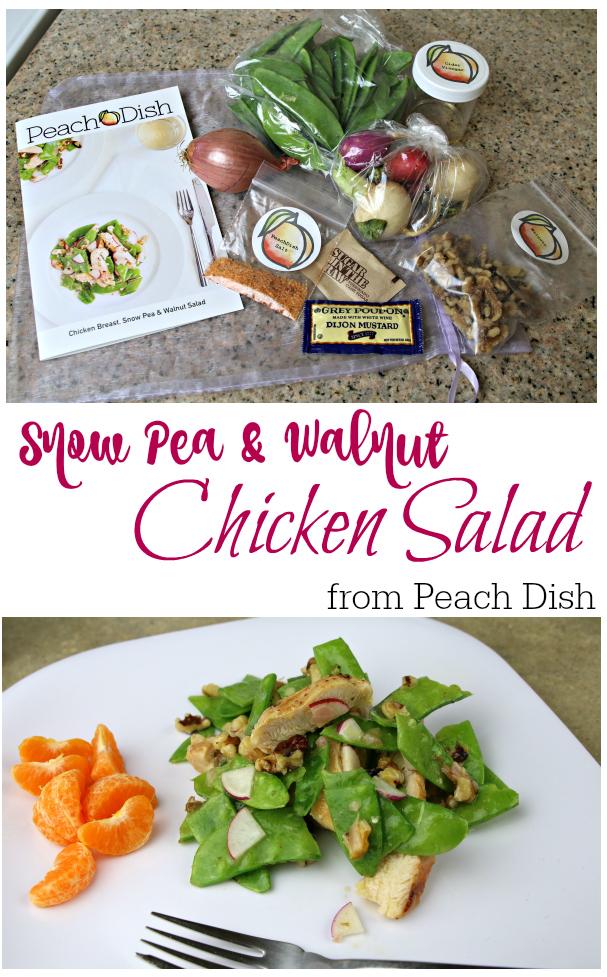 Snow Pea Walnut Chicken Salad