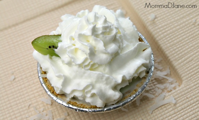 Mini Kiwi Coconut Key Lime Pie