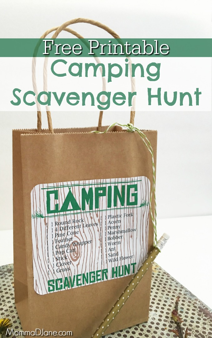 Free Printable Camping Scavenger Hunt