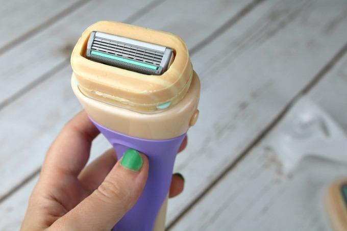 Razor with built in shave cream