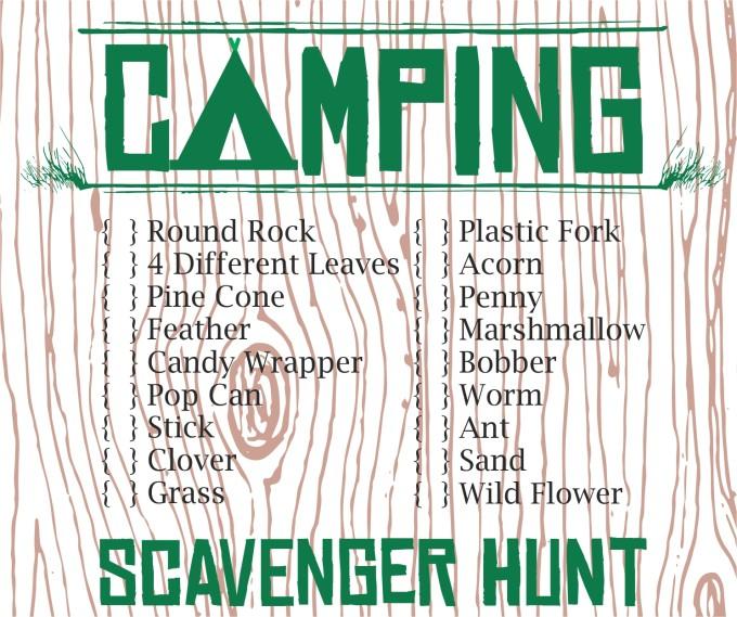 Scavenger Hunt Camp