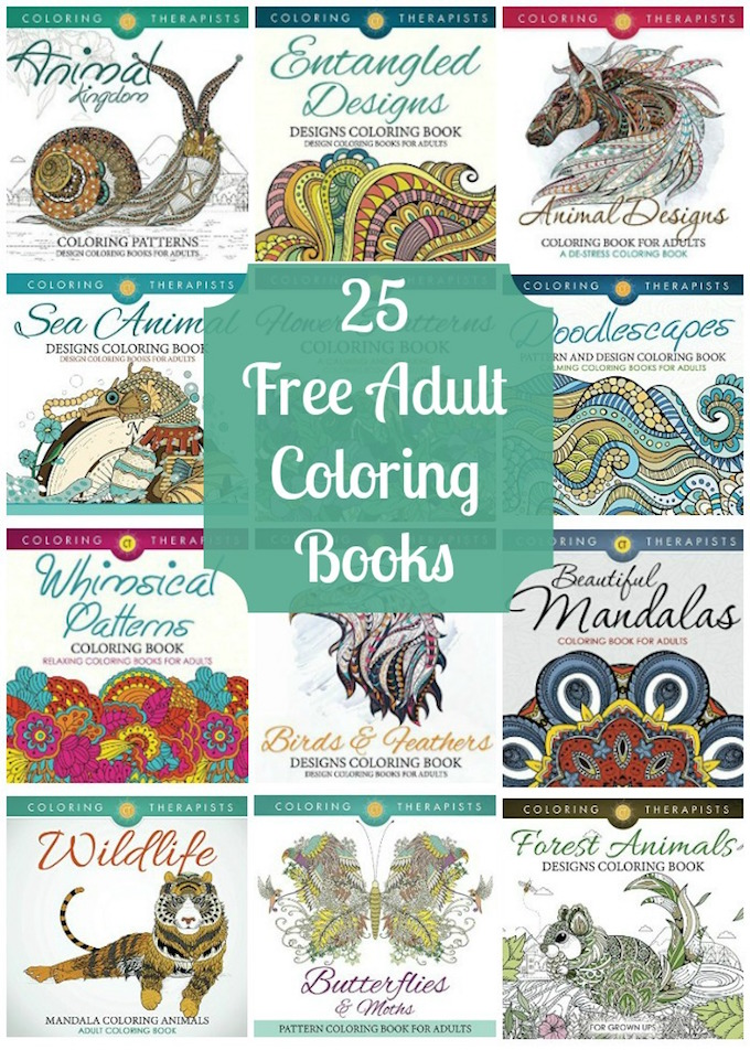 25 Free Adult Coloring Books