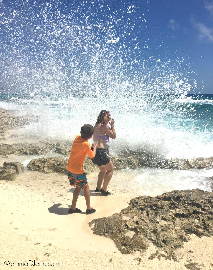 beach photo using waterproof case