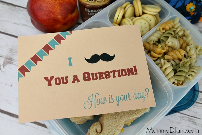 I mustache you a question lunchbox note