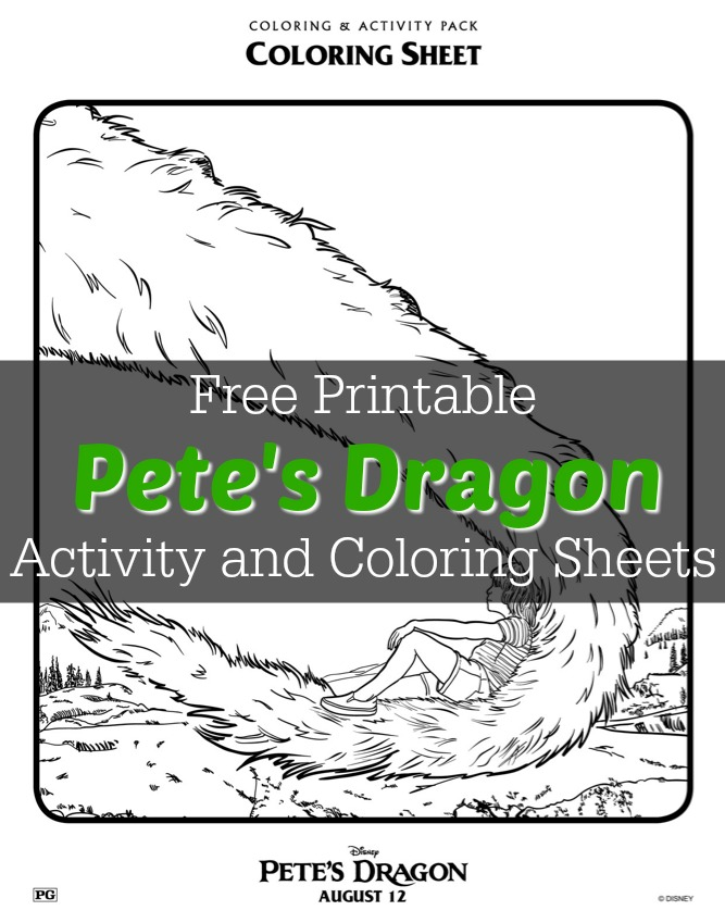 Pete's Dragon Activity and Coloring Sheets