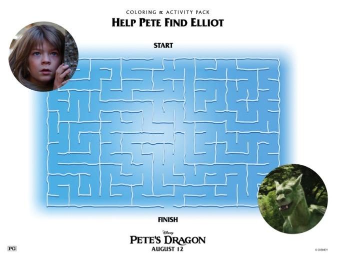 Pete's Dragon Maze