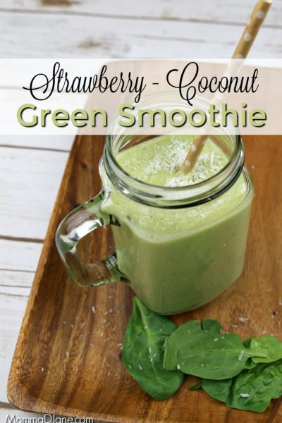 Strawberry Coconut Green Smoothie Recipe