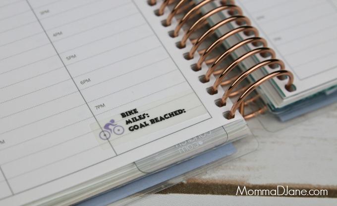 add fitness sticker to planner