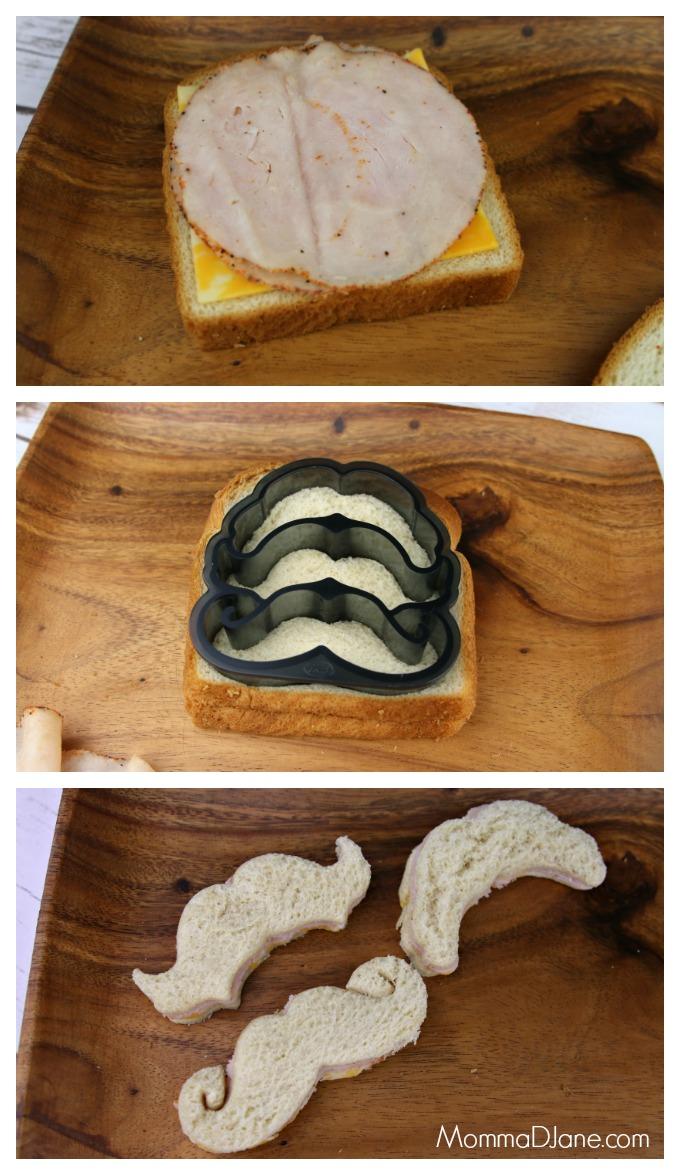 mustache sandwiches