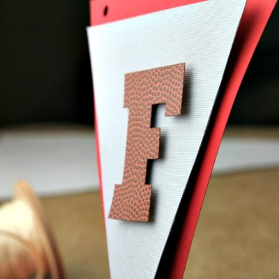Football Party Banner DIY