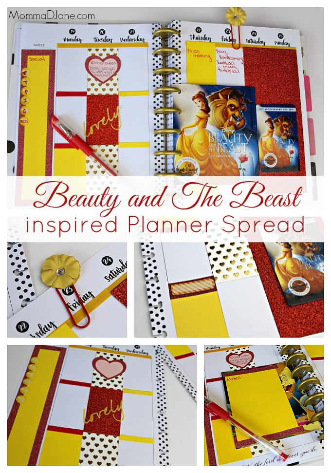 beauty-and-the-beast-inspired-planner-spread