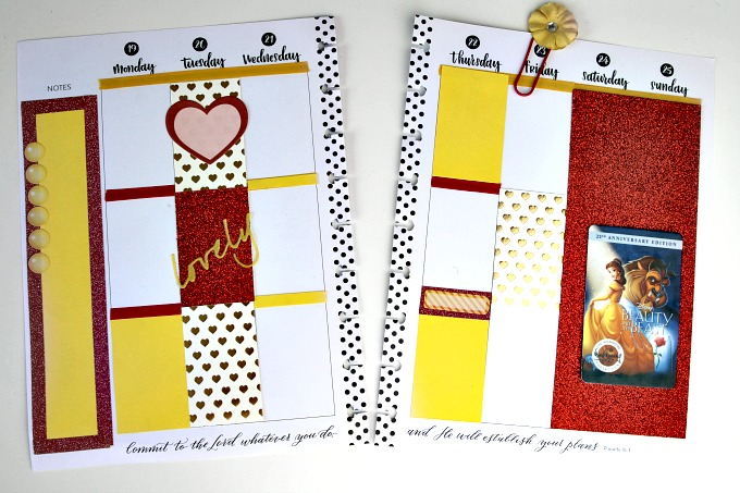 beauty-and-the-beast-planner-spread-layout