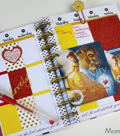 25th Anniversary of Disney's Beauty and The Beast – Movie Giveaway + Planner Spread