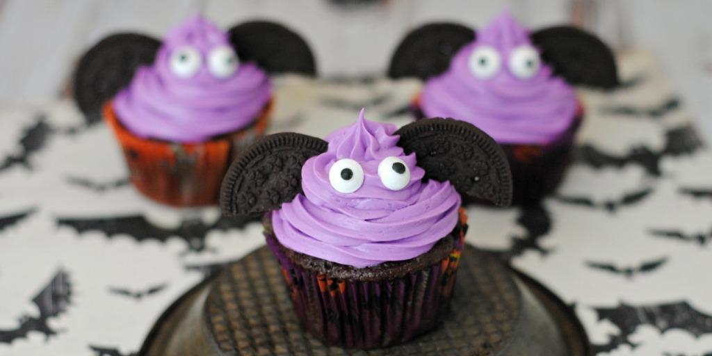 Halloween Bat Cupcakes.Diy Halloween Bat Cupcakes Life Family Joy