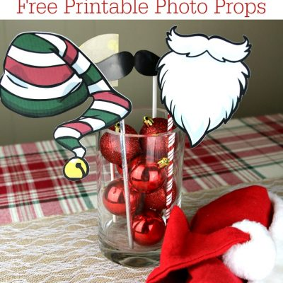 Free Printable Photo Props for a Christmas Party