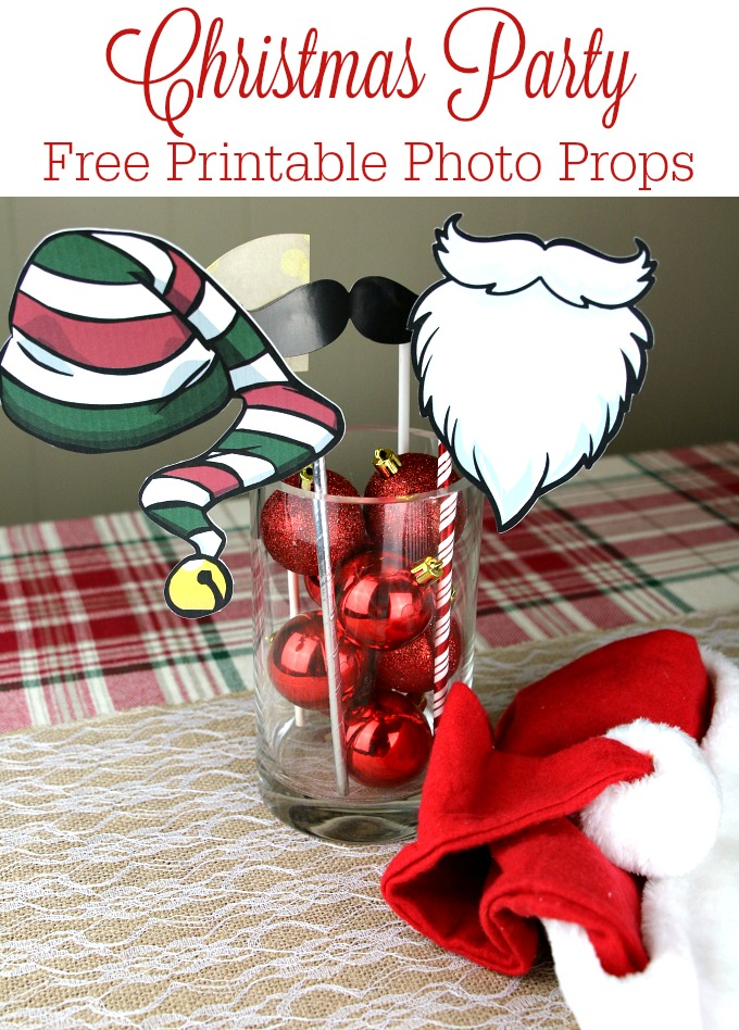 printable photo props for christmas party