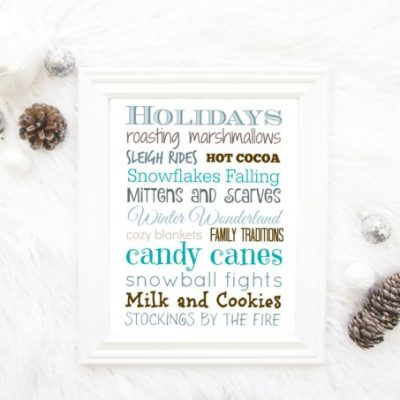 Free Printable Holiday Sign